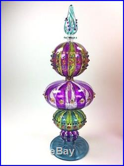 NEW Marquis Waterford Crystal Glass Carnivale Venetian Christmas Tree Topper
