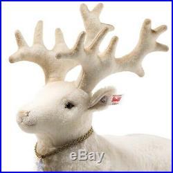 NEW Steiff Winter Reindeer White Alpaca 32 cm with Swarovski crystals EAN 006654