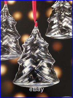 NEW in BOX Art Glass Crystal STEUBEN CHRISTMAS TREE ORNAMENT HEART