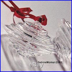 NEW in BOX STEUBEN glass CHINESE LANTERN ornamental crystal XMAS tree lamp heart