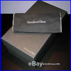 NEW in BOX STEUBEN glass CHINESE LANTERN ornamental crystal XMAS tree love lamp