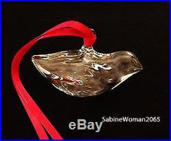 NEW in BOX STEUBEN glass HOLIDAY DOVE ornament crystal XMAS tree bird heart