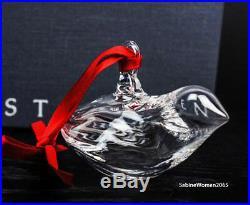 NEW in BOX STEUBEN glass HOLIDAY DOVE ornament crystal XMAS tree bird heart art