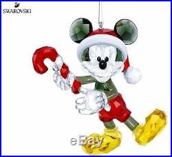 NIB $239 SWAROVSKI 2018 Christmas Ornament Disney Mickey Mouse #5412847