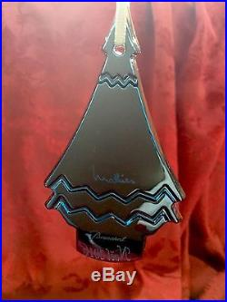 NIB FLAWLESS Exquisite BACCARAT Crystal 2016 Noel Blue CHRISTMAS TREE Ornament