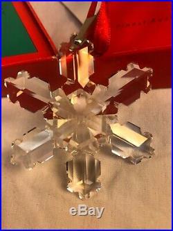 NIB Rare 1992 Swarovski Holiday Christmas Ornament Crystal, Box & COA