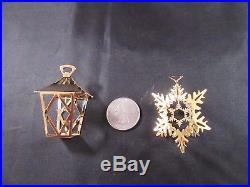 NIB Set Georg Jensen 2011 Christmas Ornaments Lantern Snow Crystal Snowflake