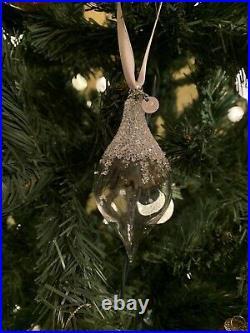 NIB Swarovski Christmas 2018 Teardrop Crystal Clear Ornament Retired #5398390