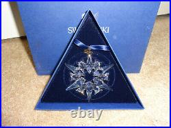 NIB Swarovski Crystal Annual Star Snowflake Christmas Ornament 2007 #872200