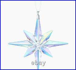NIB Swarovski Crystal Christmas Star Ornament Aurora Borealis Effect #5403200