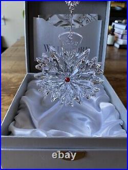 NIB WATERFORD Crystal 2020 Snowflake Wishes Christmas Ornament Last Ed NIB Ruby