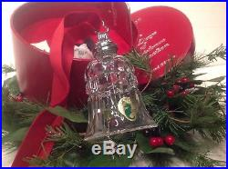 NIB Waterford Crystal 12 Days of Christmas 10 Lords-A-Leaping Bell Ornament 2009