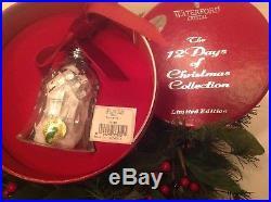NIB Waterford Crystal12 Days of Christmas12 Drummers Drumming Bell Ornament 2010