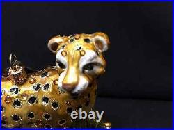 NWT/NIB Jay Strongwater Safari Cheetah with Swarovski Crystals Ornament