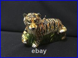 NWT/NIB Jay Strongwater Stalking Tiger with Swarovski Crystals Ornament FS