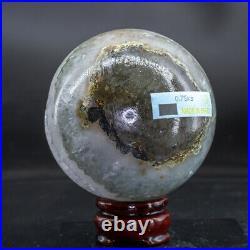 Natural Agate Geode Sphere Quartz Cluster Ball Healing Energy Ornaments Q119