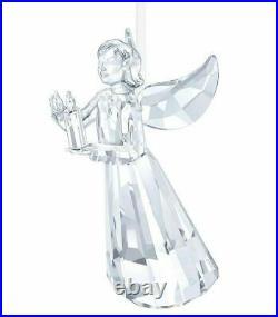 New $129 Swarovski Crystal Christmas Angel Ornament Candle AE 2017 #5269374