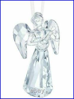 New $129 Swarovski Crystal Christmas Angel Ornament Lute AE 2018 #5397776