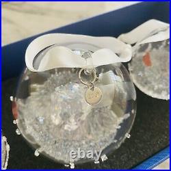 New 2016 Swarovski Christmas Ball Ornament Set Annual Edition Crystal # 5223282