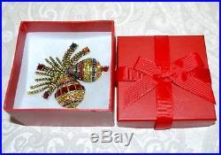 New $250 Heidi Daus Christmas Holiday Ornamental Brooch Pin SWAROVSKI CRYSTALS