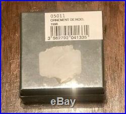 New Pate De Verre Glass Crystal Mistletoe Christmas Ornament1996 Sealed Nib