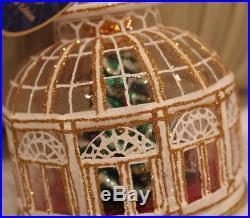 New RARE Christopher Radko Crystal Clear Solarium OrnamentChristmas Tree Inside