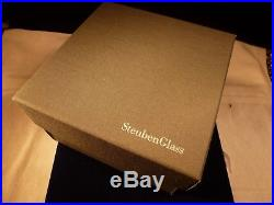 New Steuben Complete Lead Crystal Christmas 4 Snowman Ornament Neiman Marcus