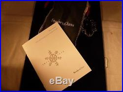 New Steuben Lead Crystal Christmas Holly Leaves Ornament Neiman Marcus Exclusive