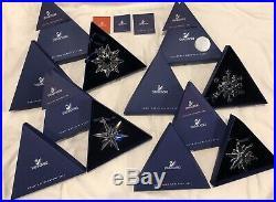 New Swarovski Crystal Christmas Snowflake Ornaments 2003 2004 2005 2006