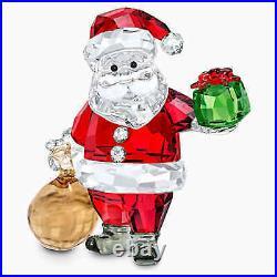 New Swarovski Crystal Santa Claus With Gift Bag #5539365 Brand Nib Christmas F/s