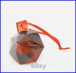 New Vintage Baccarat Noel Red Diamond Christmas Ornament 16460