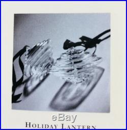 New in Box Art Glass STEUBEN HOLIDAY LANTERN ORNAMENT Crystal Heart Christmas