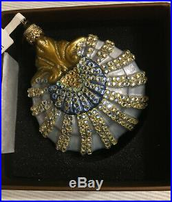New in Box JAY STRONGWATER SEA SHELL Christmas Ornament Swarovski Crystals