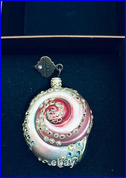 New in Box Jay Strongwater Sea Shell Ornament Swarovski Crystals