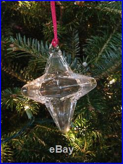 New in Box STEUBEN HOLIDAY STAR Christmas Tree Ornament RARE Crystal