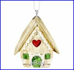 New in Box SWAROVSKI CHRISTMAS Gingerbread House ORNAMENT 2018 CRYSTAL 5395977
