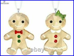 New in Box Swarovski Christmas Gingerbread Couple Ornament #5281766