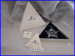Nib 2001 Large Swarovski Crystal Christmas Ornament Star/snowflake #267941