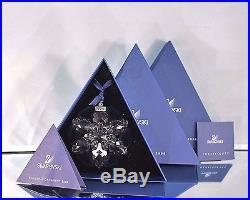 Nib 2008 Large Swarovski Crystal Christmas Ornament Star/snowflake 0942045