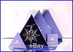 Nib 2009 Large Swarovski Crystal Christmas Ornament Star/snowflake #0983702