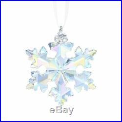 Nib 2016 Large Swarovski Crystal Christmas Ornament 25th Anniversary #5258537
