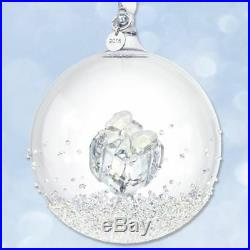 Nib Swarovski Crystal Annual Edition Christmas Large Ball Ornament 2016 Retired