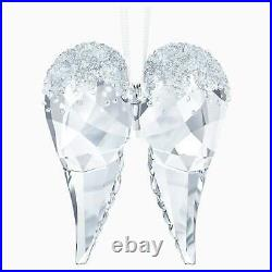 Nib Swarovski Crystal Christmas Angel Wings Ornament #5403312