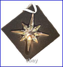 Nib Swarovski Crystal Christmas Star Ornament Multicolor Ab Large #5403200
