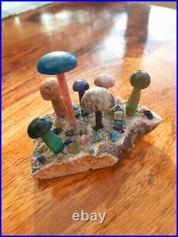 Ornamental semi precious gem mushroom forest one of a kind unique and original