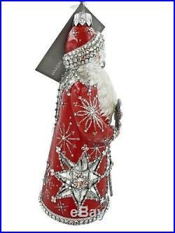 Patricia Breen Crystalline Claus Red White Crystal Santa Christmas Tree Ornament