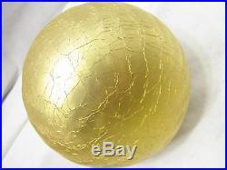Pr Vintage German Mercury Glass Kugel Balls Glass Christmas Ornaments Orange