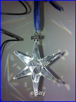 RARE 1993 SWAROVSKI Annual Edition Crystal STAR CHRISTMAS HOLIDAY ORNAMENT