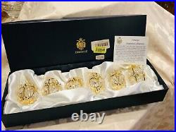 RARE! Faberge Imperial Collection 6 Crystal Palace Egg Ornaments. New In Box