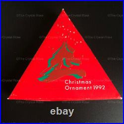 RARE Retired Swarovski Crystal 1992 Christmas Snowflake Ornament 168690 Boxed